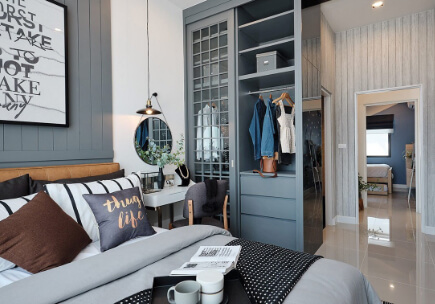 สิริ เพลส แอร์พอร์ต ภูเก็ต ทาวน์โฮมฟังก์ชันบ้านเดี่ยวไม่เกิน 3 ล้าน - Double Master Bedroom