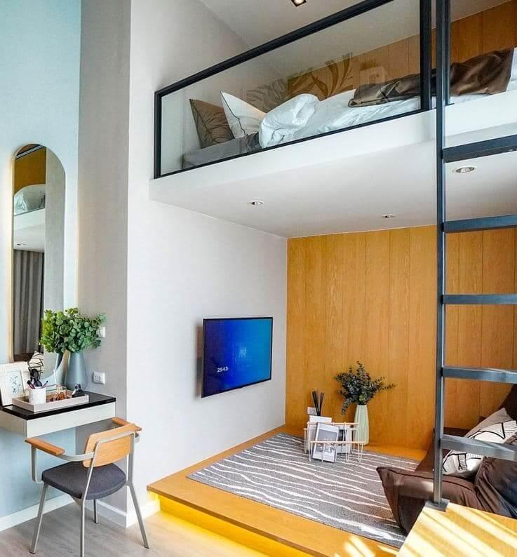 สิริ เพลส เพชรเกษม - สาย 4 ทาวน์โฮมฟังก์ชันบ้านเดี่ยวไม่เกิน 3 ล้าน - ห้องนอนเพดานสูง